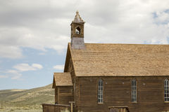 Wooden church in Bodie, CA Royalty Free Stock Photography