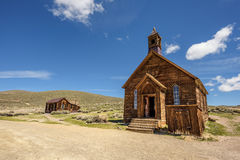 Wooden church in Bodie ghost town, California Royalty Free Stock Photo