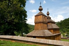Wooden church in Bodruzal Stock Photography