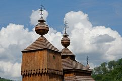 Wooden church in Bodruzal Stock Image