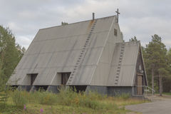 Wooden church. Borderland church in Finnish Lapland stock photos