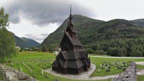 Wooden church Borgund Stavkyrke Stock Images
