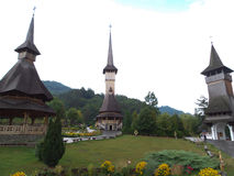 The wooden church of Botiza Stock Image