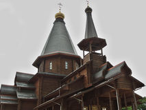 The wooden church. Royalty Free Stock Images