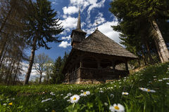 Wooden Church from Calinesti village, Maramures Stock Image