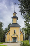 Wooden church. In central Finland royalty free stock photo