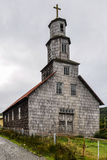 Wooden church, Chiloe Island, Chile Royalty Free Stock Images