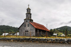 Wooden church, Chiloe Island, Chile Royalty Free Stock Image