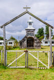 Wooden church, Chiloe Island, Chile Stock Photos