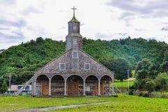 Wooden church, Chiloe Island, Chile Stock Photo