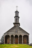 Wooden church, Chiloe Island, Chile Stock Photography