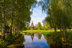 Wooden church in the city of Kostroma Stock Photo