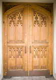 Wooden church door Royalty Free Stock Photos