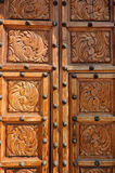 Wooden church doors, Ajijic, Jalisco, Mexico Stock Photos