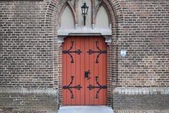 Wooden church doors stock images