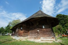 The Wooden Church of Dragos Voda in Putna Royalty Free Stock Image