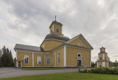 Wooden church. In eastern Finland royalty free stock photography