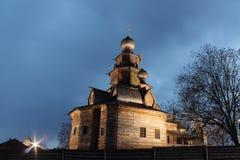 Wooden Preobrazhenskay church of 1756 royalty free stock photos