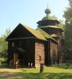 The wooden church of Elijah the Prophet. Wooden church of Elijah the Prophet on a sunny day. Kostroma open-air museum Stock Image