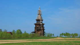 The wooden church of the field Royalty Free Stock Photography