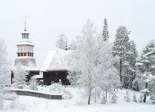 Wooden church in Finland Royalty Free Stock Image