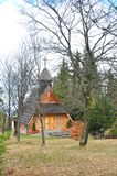 Wooden church in the forest Royalty Free Stock Photography