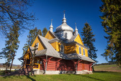 Wooden church in Gladyszow, Poland Royalty Free Stock Image