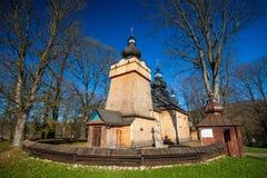 Wooden church in Hanczowa, Poland Stock Photos