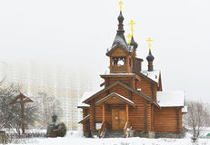 Wooden church of the Holy Apostles Constantine and Elena Royalty Free Stock Images