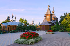 Wooden church in honor of St. Sergius of Radonezh, Murom Royalty Free Stock Images