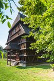 Wooden church in Hronsek, articular style. Hronsek, Slovakia - AUGUST 06, 2015: Hronsek. Old fully wooden one of the five preserved artucular churches in Stock Images