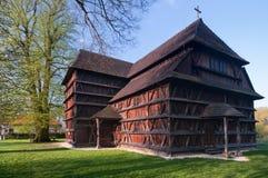 Wooden church at Hronsek, Slovakia royalty free stock photos