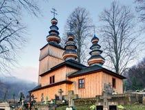 Wooden Church, Hunkovce, Slovakia Royalty Free Stock Photography