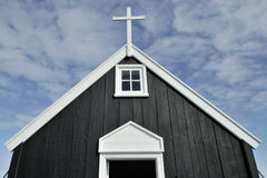 Wooden church, Iceland Stock Image