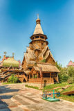 Wooden church inside the complex Izmailovskiy Kremlin in Moscow, Stock Images