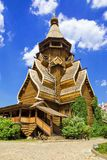 Wooden church in the Izmailovo Kremlin, Moscow, Russia Royalty Free Stock Images