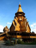 Wooden church in Izmaylovo Moscow Russia. Wooden church in Izmaylovskiy Kremlin in Moscow Russia Royalty Free Stock Images