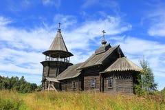 Wooden Church, Karelia, Russia Stock Photo