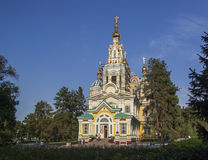Wooden church in Kazakhstan Stock Photos