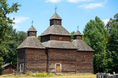 Wooden church , Kiev, Ukraine Stock Photos