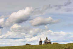 Wooden church at Kizhi against dramatic cloudscape Stock Photography