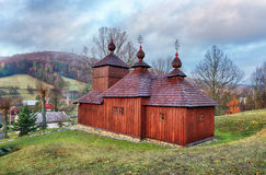 Wooden church, Korejovce, Slovakia Stock Images