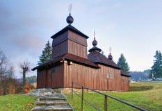 Wooden church, Korejovce, Slovakia Stock Photo