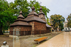 Wooden church, Kosice Royalty Free Stock Images