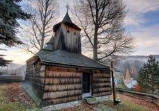 Wooden church, Krajne Cierno, Slovakia Royalty Free Stock Images