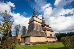 Wooden church in Krempna, Poland Stock Photo