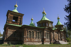 Wooden church in Kyrgyzstan Stock Photography