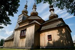 Wooden church in Ladomirova Royalty Free Stock Photography