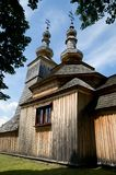 Wooden church in Ladomirova Stock Photography