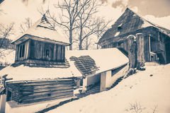 Wooden church. At Lestiny, Slovakia royalty free stock photo